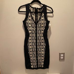 XOXO Bodycon dress Black and Gold size Small